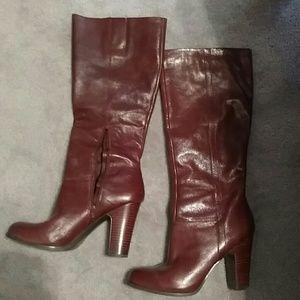 Nine west NWMAGIC knee high boots dark cog…